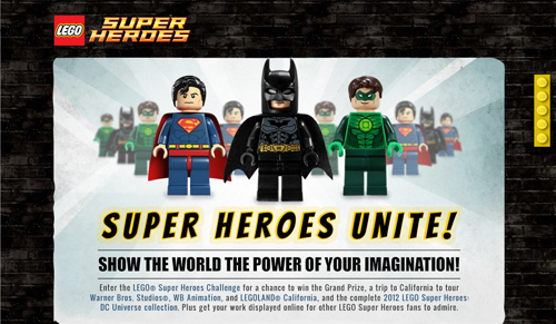 Screen capture from LEGO site